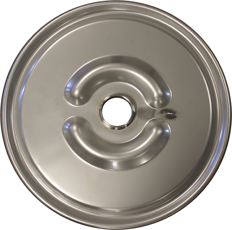 COVER DRUM 22 1/2″ 16ga 304SS w/(2) eyebrows 3″ nipple WSL